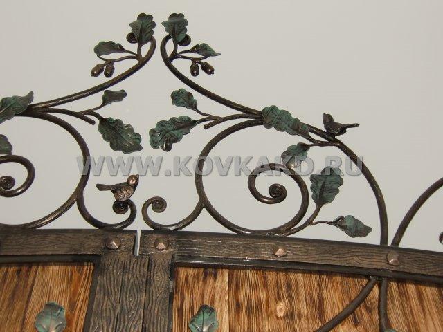 От Ковка КД фрагмент кованых ворот - верх