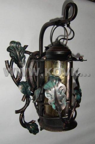 От Ковка КД кованый фонарь с дубовыми листьями