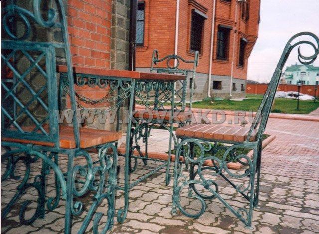 От Ковка КД кованая мебель, стол со стульями