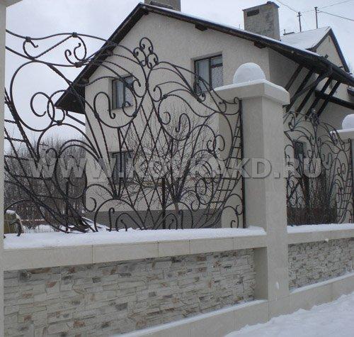 От Ковка КД кованый забор. загородный дом