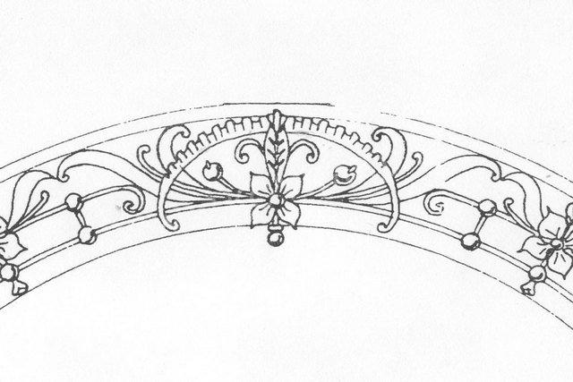 От Ковка КД эскиз элемента кованой арки