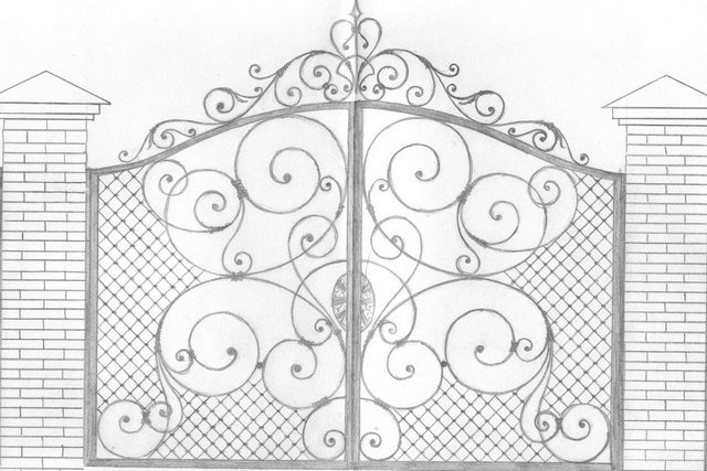 От Ковка КД эскиз кованых ворот