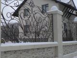 Кованый забор. Загородный дом.