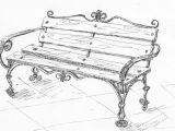 эскиз кованой скамейки